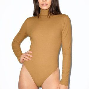 American Apparel Ribbed Long Sleeve Thong Bodysuit